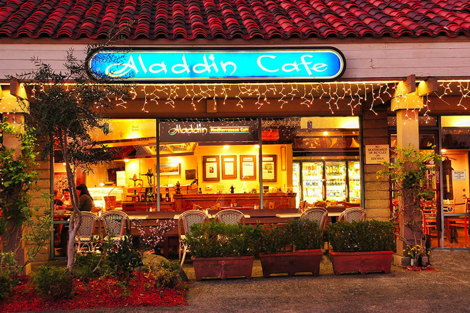 space at Aladdin's Mediterranean Restaurant