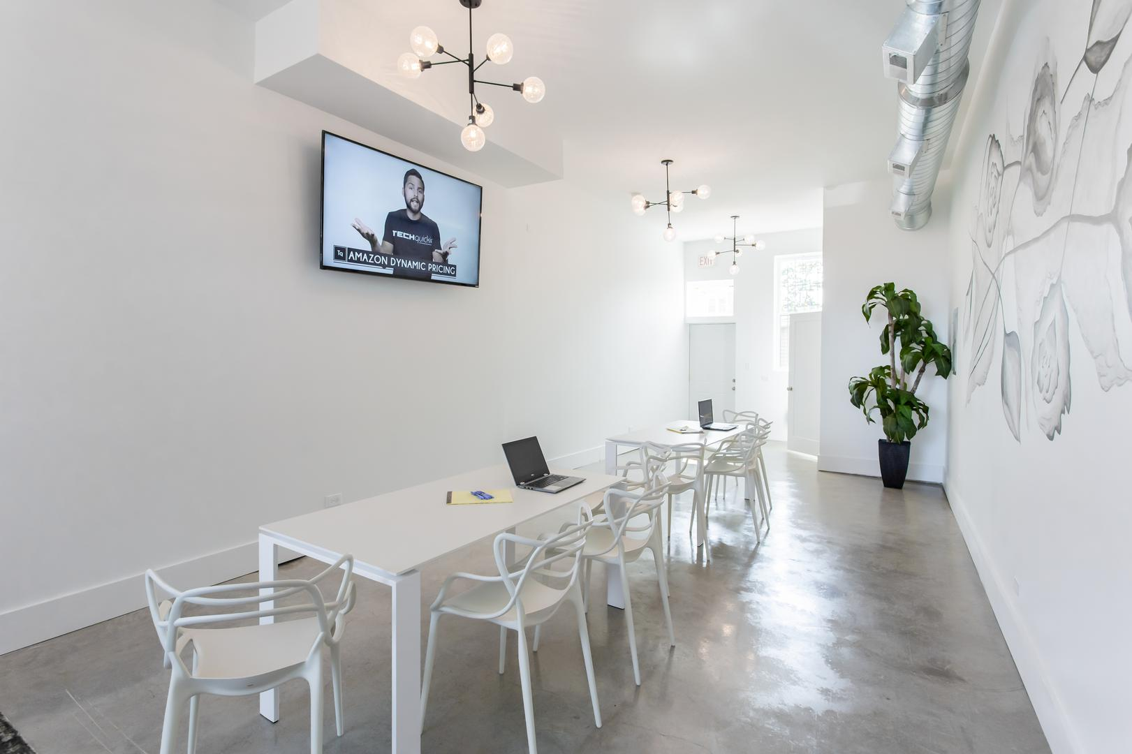 space at Brand New Event Space in Irving Park | Modern | Clean | Chic