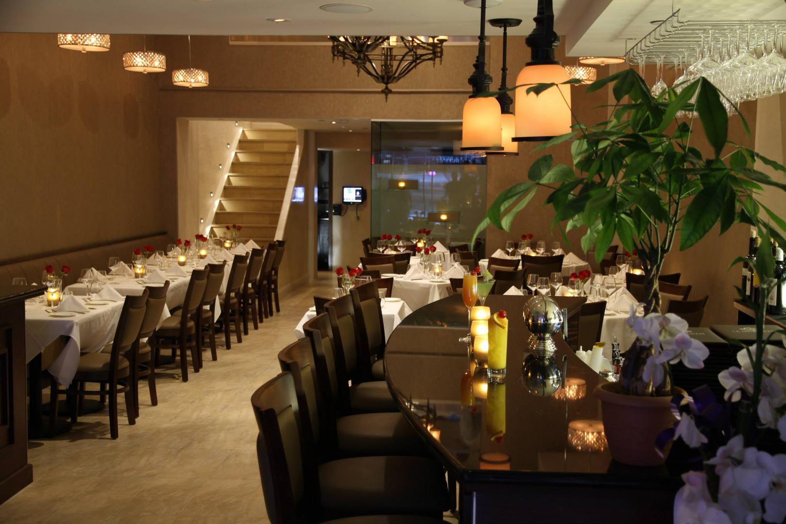 space at La Brochette Steakhouse and Sushi Bar