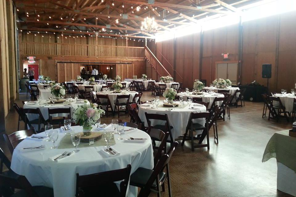 space at Postlewait's Country Weddings