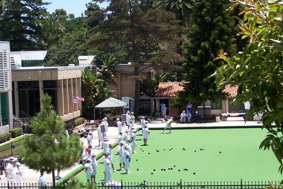 space at San Diego Lawn Bowling Club