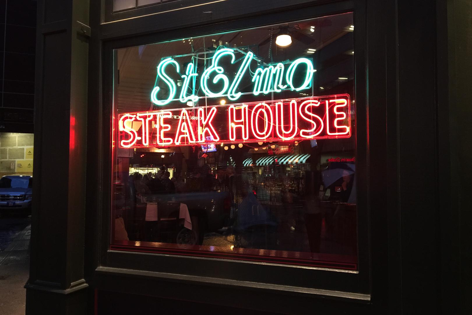 space at St. Elmo Steak House