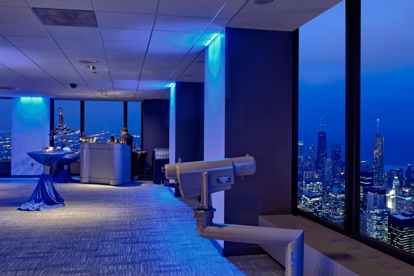 space at Skydeck Chicago at Willis Tower