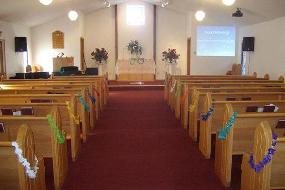 space at Unity Church of Light