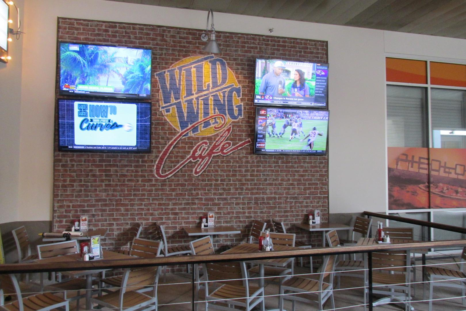 space at Wild Wing Cafe